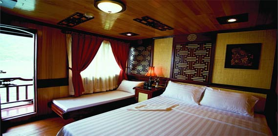 victory cabin highlights your Halong bay - hanoi holiday in term of luxury