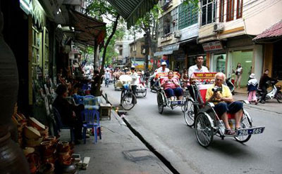Rishsaw tour recommended as best of hanoi city tour one day